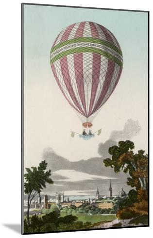 James Sadler's Balloon Ascent at Oxford--Mounted Giclee Print