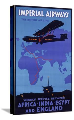 Imperial Airways Poster--Stretched Canvas Print