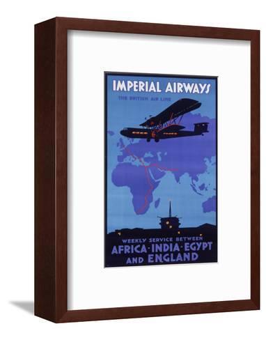 Imperial Airways Poster--Framed Art Print
