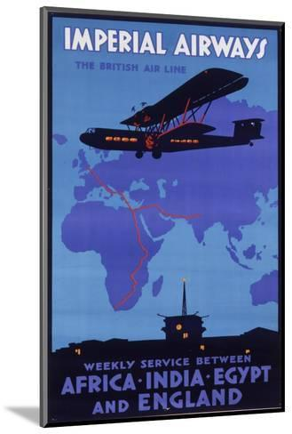 Imperial Airways Poster--Mounted Giclee Print
