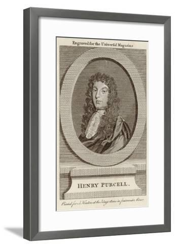 Henry Purcell English Composer--Framed Art Print