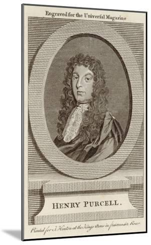 Henry Purcell English Composer--Mounted Giclee Print