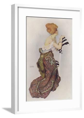 In the Black and White Room, Pin Up Art of a Woman--Framed Art Print