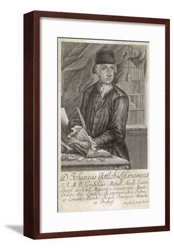 Johann Gottlob Lehmann German Geologist--Framed Art Print