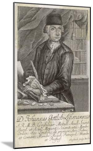 Johann Gottlob Lehmann German Geologist--Mounted Giclee Print