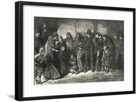 Houseless and Hungry by Luke Fildes-Peter Higginbotham-Framed Art Print