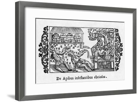 Intoxicated Bees--Framed Art Print