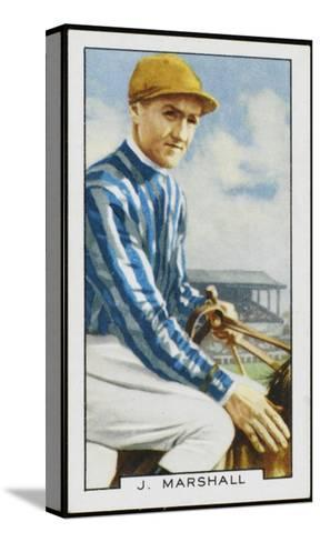 Joseph Marshall, Jockey, in the Colours of Mrs C Rich--Stretched Canvas Print