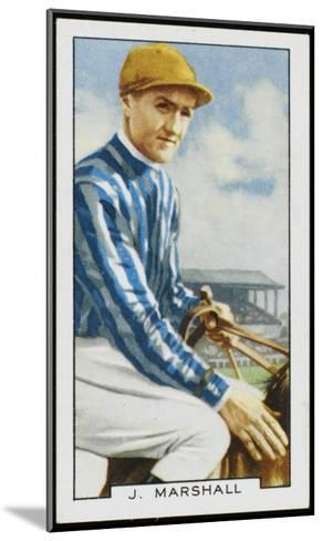 Joseph Marshall, Jockey, in the Colours of Mrs C Rich--Mounted Giclee Print