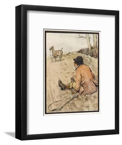 I J Stands for Jorrocks of Famed Handley Cross - But Oh, the Poor Fellow Has Taken a Toss!'--Framed Art Print