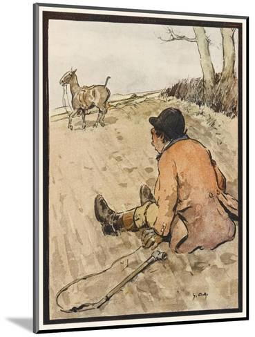 I J Stands for Jorrocks of Famed Handley Cross - But Oh, the Poor Fellow Has Taken a Toss!'--Mounted Giclee Print