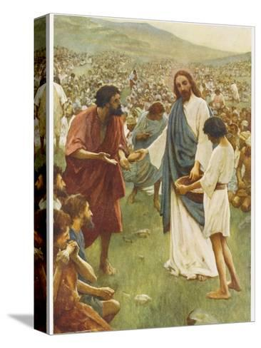 Jesus Feeds 5000--Stretched Canvas Print