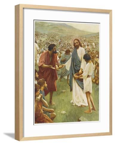 Jesus Feeds 5000--Framed Art Print