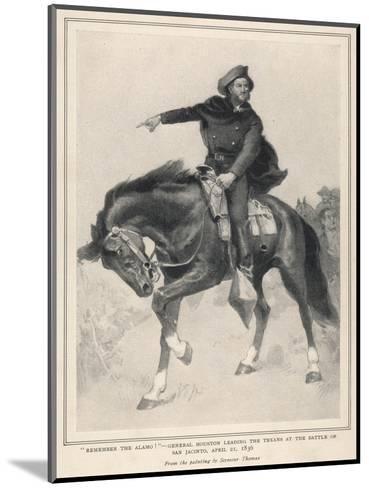 Houston at San Jacinto--Mounted Giclee Print