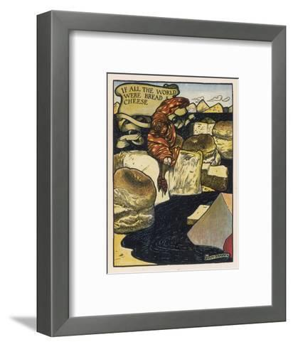 If All the World--Framed Art Print