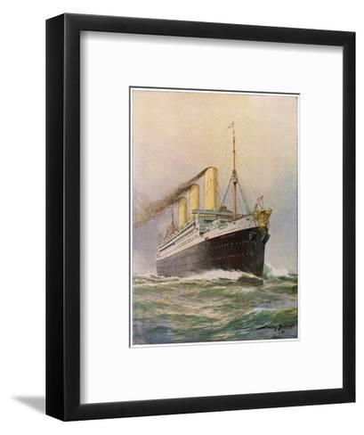 'Imperator' Steamship--Framed Art Print