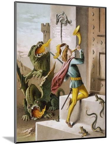 Jack Blows His Horn at the Door of the Giant's Castle--Mounted Giclee Print