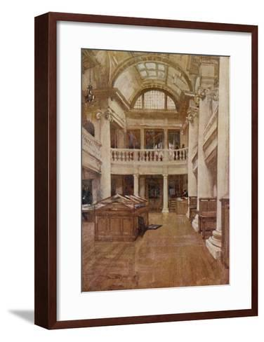 Interior View of the Hornby Library, Liverpool--Framed Art Print
