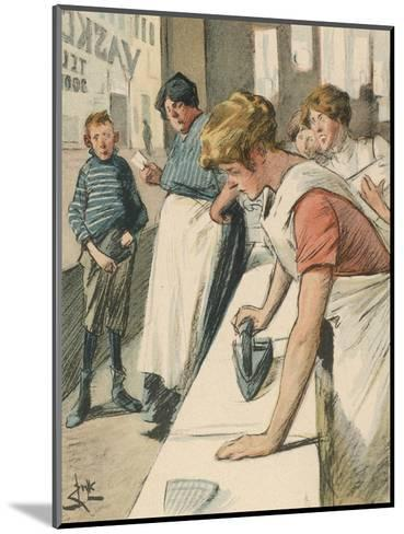 Ironing in the Public Laundry--Mounted Giclee Print
