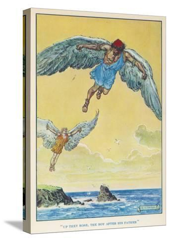 Icarus and Daedalus--Stretched Canvas Print
