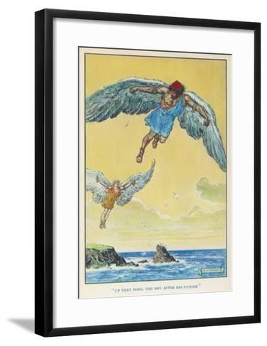 Icarus and Daedalus--Framed Art Print