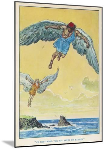 Icarus and Daedalus--Mounted Giclee Print