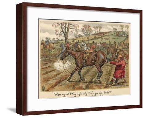 Having Fallen Off His Horse, Mr Popple Grabs it by the Tail to Stop it from Running Away--Framed Art Print
