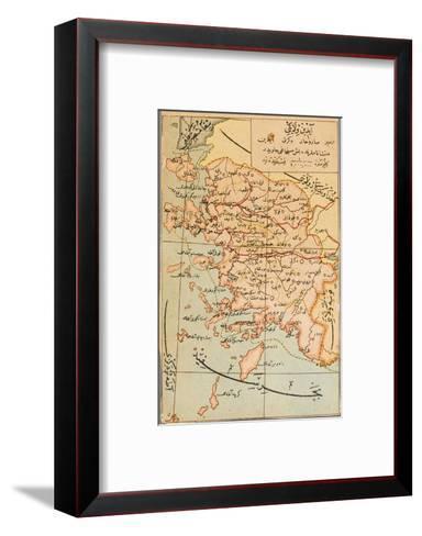Izmir Region of Turkey - Map--Framed Art Print