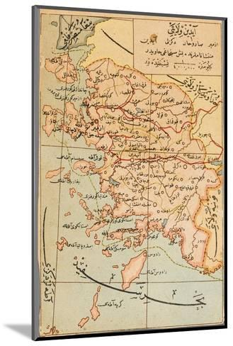 Izmir Region of Turkey - Map--Mounted Giclee Print