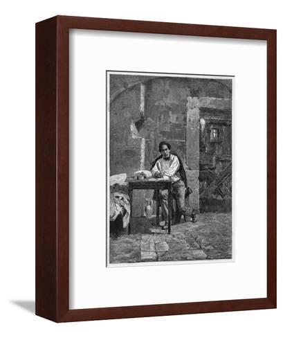 Journalist Domenico Guerrazzi Is Imprisoned for His Liberal Views--Framed Art Print
