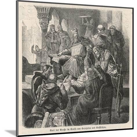 He Confers with Scholars and Clerics : He Is a Great Patron of Learning--Mounted Giclee Print