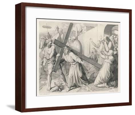 Jesus Carries His Cross--Framed Art Print
