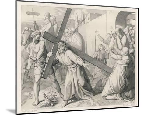 Jesus Carries His Cross--Mounted Giclee Print