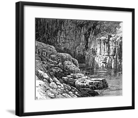 Hell's Gate Canyon, Fraser River, 1882--Framed Art Print