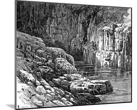 Hell's Gate Canyon, Fraser River, 1882--Mounted Giclee Print