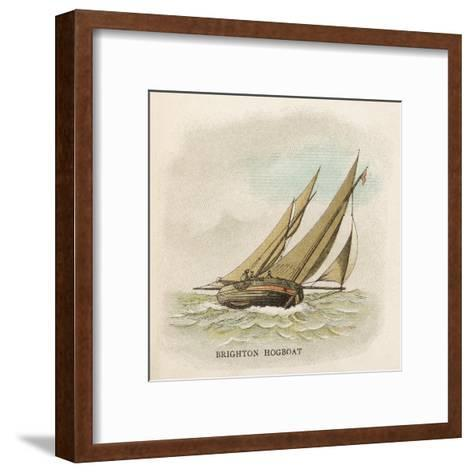 Hogboat Used by the Fishermen of Brighton, Sussex--Framed Art Print