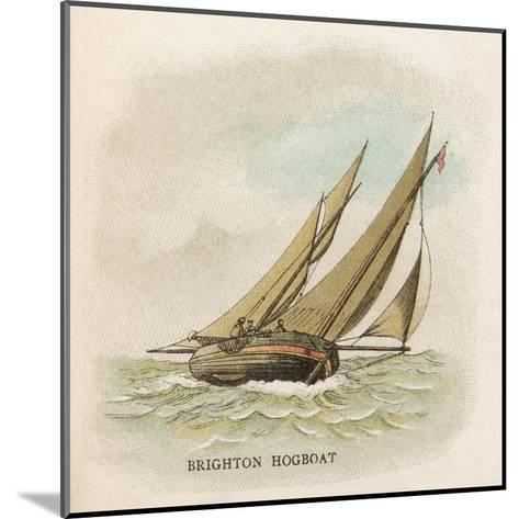 Hogboat Used by the Fishermen of Brighton, Sussex--Mounted Giclee Print