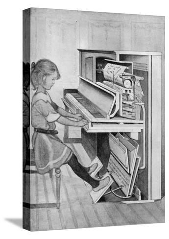 How Pianola Works 1912--Stretched Canvas Print