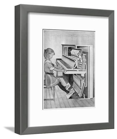 How Pianola Works 1912--Framed Art Print