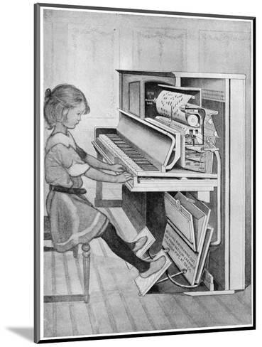 How Pianola Works 1912--Mounted Giclee Print