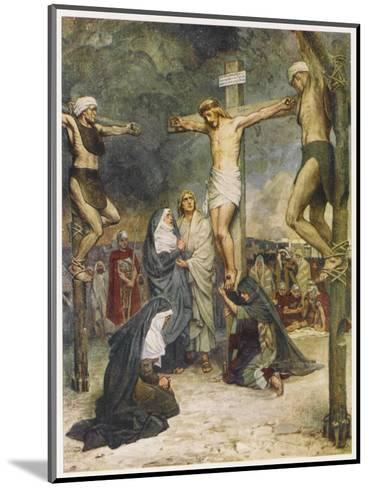 Jesus and Two Other Condemned Criminals on their Crosses--Mounted Giclee Print