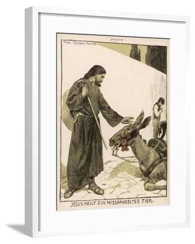 Jesus of Nazareth Religious Leader of Jewish Origin Who Preached 'Christianity'--Framed Art Print