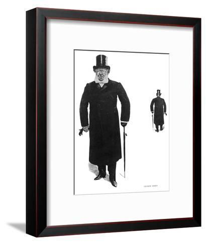 Henrik Ibsen Norwegian Dramatist Taking His Daily Walk--Framed Art Print