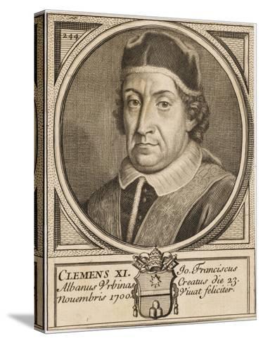 Pope Clemens XI (Gianfrancesco Albani)--Stretched Canvas Print