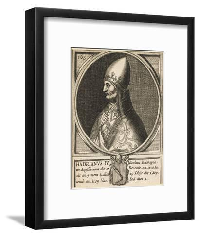 Pope Hadrianus IV (Nicholas Breakspeare) the Only English Pope--Framed Art Print