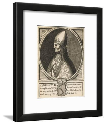 Pope Hadrianus IV (Nicholas Breakspeare) the Only English Pope--Framed Art Print