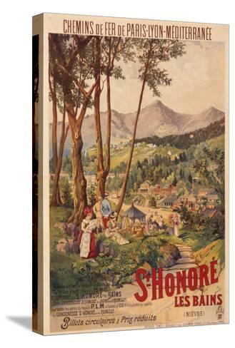 Poster Advertising French Railways to St Honore Les Bains--Stretched Canvas Print