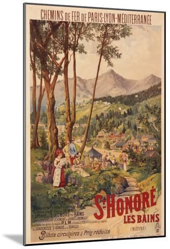 Poster Advertising French Railways to St Honore Les Bains--Mounted Giclee Print