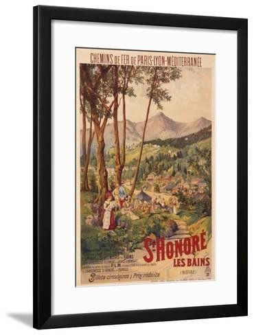 Poster Advertising French Railways to St Honore Les Bains--Framed Art Print
