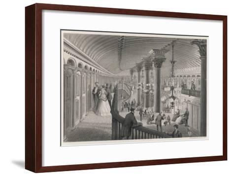 Riverboat Interior--Framed Art Print